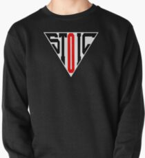 Stoic Triangle - Black Red Pullover Sweatshirt