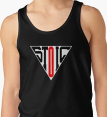 Stoic Triangle - Black Red Tank Top