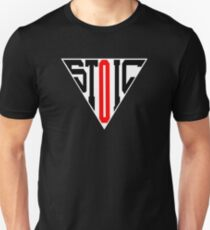 Stoic Triangle - Black Red Slim Fit T-Shirt