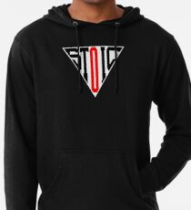 Stoic Triangle - Black Red Lightweight Hoodie