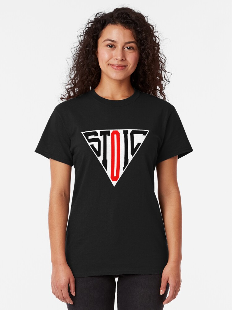 Alternate view of Stoic Triangle - Black Red Classic T-Shirt