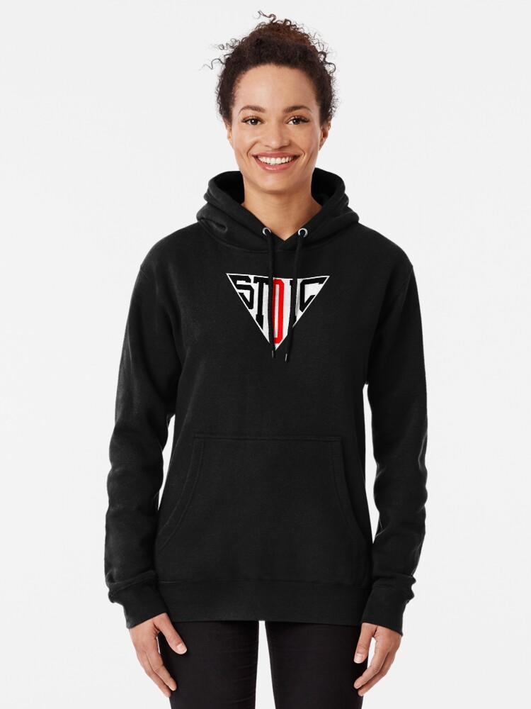 Alternate view of Stoic Triangle - Black Red Pullover Hoodie