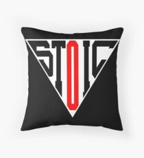 Stoic Triangle - Black Red Floor Pillow