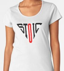 Stoic Triangle - Black Red Premium Scoop T-Shirt