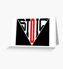 Stoic Triangle - Black Red Greeting Card