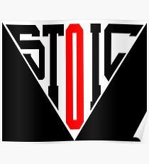 Stoic Triangle - Black Red Poster