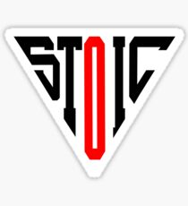 Stoic Triangle - Black Red Sticker