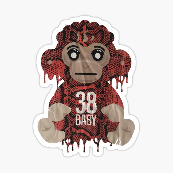 Youngboy Never Broke Again Colorful Monkey Gear, 38 Baby Merch NBA Classic T-Shirt Sticker
