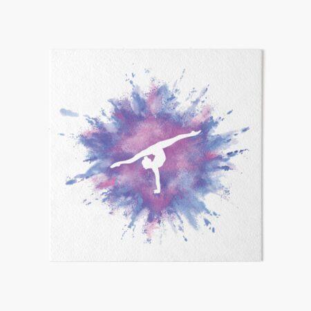Gymnast Rainbow Explosion Pink Blue Art Board Print