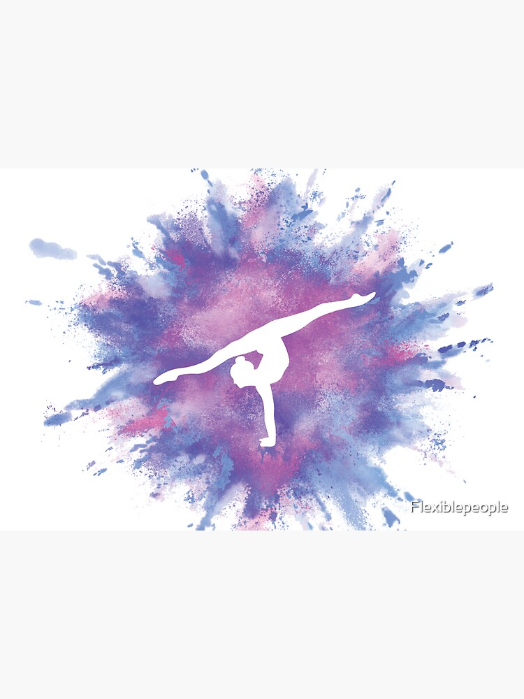 Gymnast Rainbow Explosion Pink Blue by Flexiblepeople