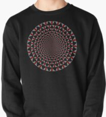 Stoic Flower - Red White Pullover Sweatshirt