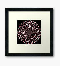 Stoic Flower - Red White Framed Print