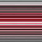 Vibrant red and monochrome horizontal linework by cesarpadilla
