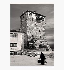 Old monk returning from Mount Athos Photographic Print