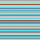 Colorful horizontal pastel colored lines by cesarpadilla