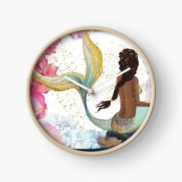 Mermaid Colors Clock