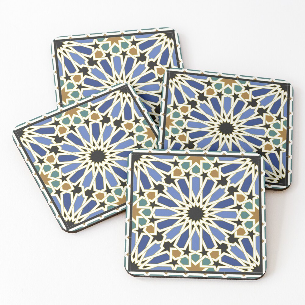Arabic Tile I Coasters (Set of 4)