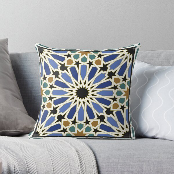 Arabic Tile I Throw Pillow