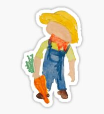 Toddies Spring Planting Farmer Toddler Sticker