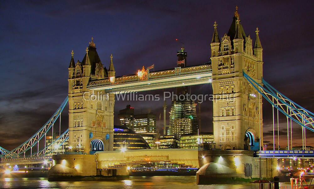 Tower Bridge And The Shard Building - HDR by Colin  Williams Photography