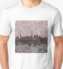 paris skyline abstract 7 T-Shirt