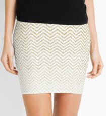 Gold Glitter Ombre Chevrons Mini Skirt