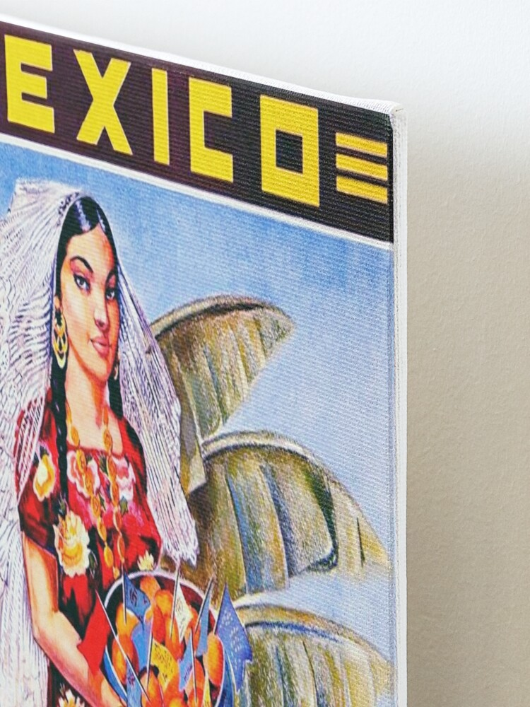 Alternate view of Vintage Mexico Travel Poster Mounted Print
