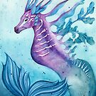 Watercolor Hippocampus by Denise Soden