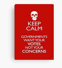 KEEP CALM - GOVERNMENTS Canvas Print