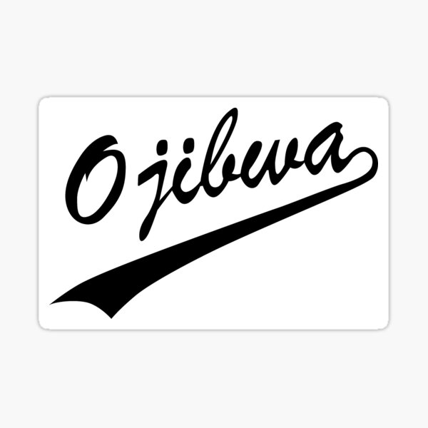 Ojibwa Black and White  Sticker