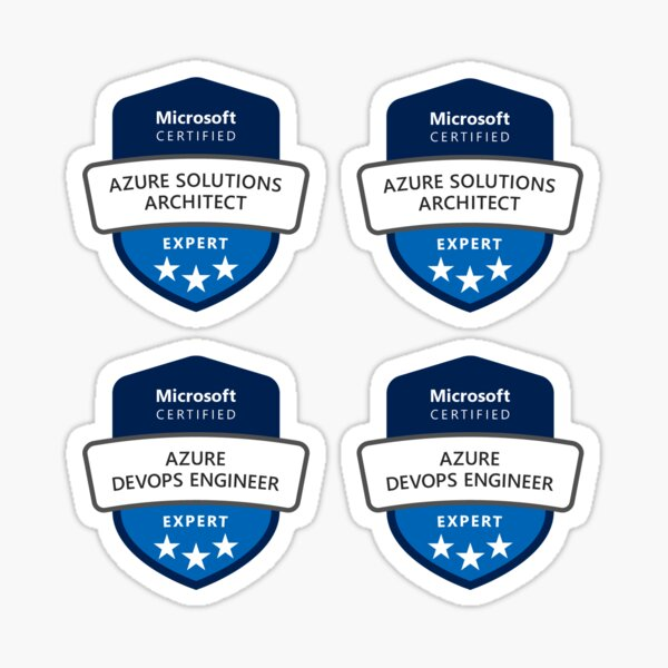Azure Certification Sheet Experts Sticker