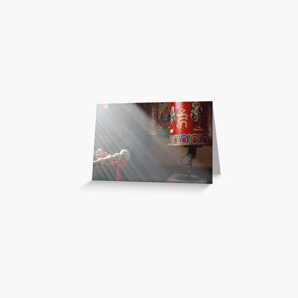 Prayer wheel Greeting Card