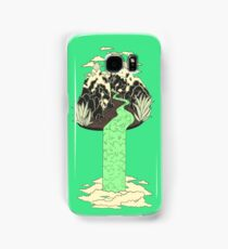 Levitating Island with a Source coming from nowhere Samsung Galaxy Case/Skin