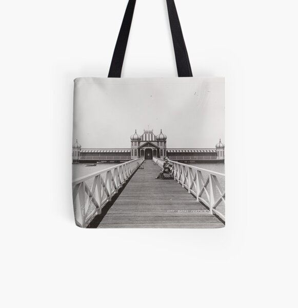 Perth City Baths on the Swan River at the Esplanade, Western Australia State Library of Western Australia All Over Print Tote Bag