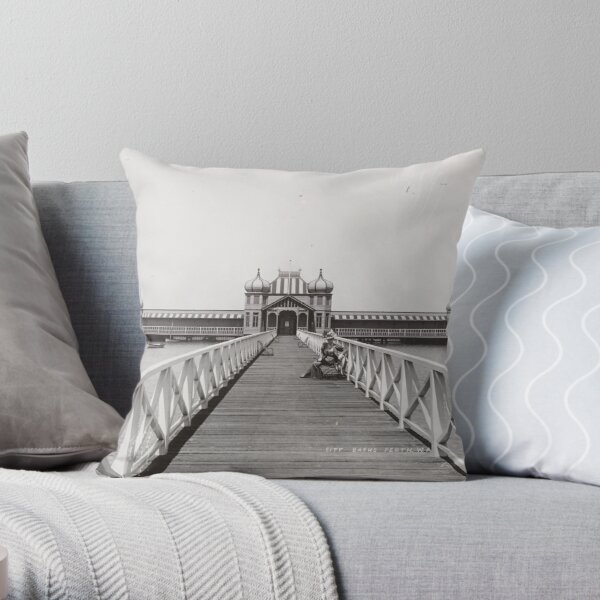 Perth City Baths on the Swan River at the Esplanade, Western Australia State Library of Western Australia Throw Pillow