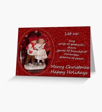 Let's remember dreams of peace Greeting Card
