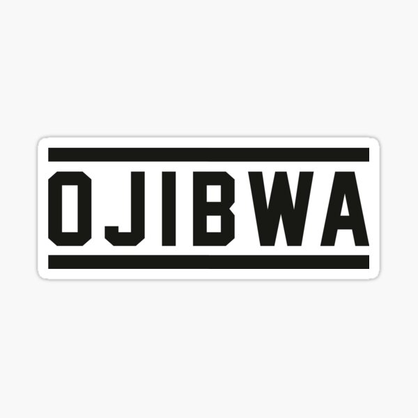 Ojibwa Stripe Logo Sticker