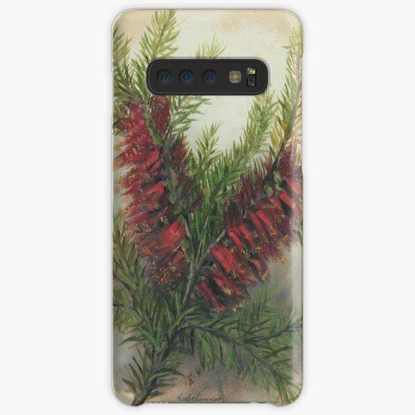 Western Australia wild flower One-sided Bottlebrush- Calothamnus State Library of Western Australia Samsung Galaxy Snap Case