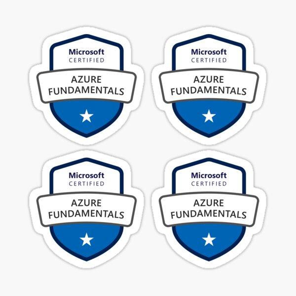 Azure Fundamentals Certification Sheet Sticker