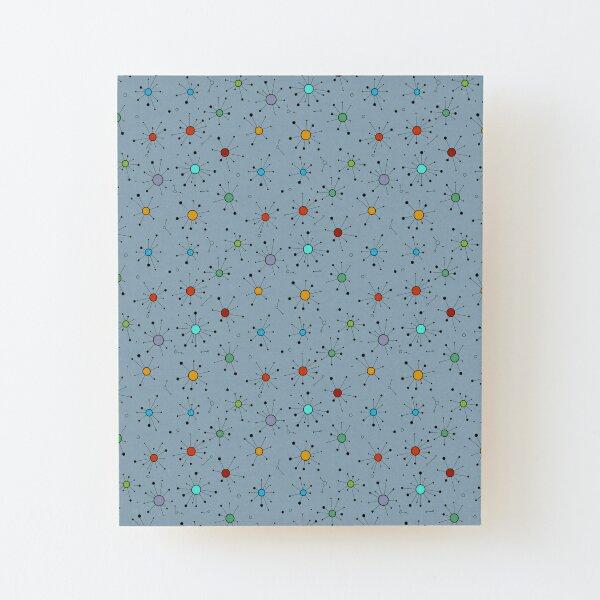 Simple Colourful Minimalist Geometric Mini Constellations Pattern Wood Mounted Print
