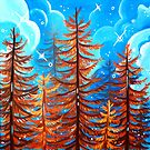 Autumn Pine Trees by cloudsover31