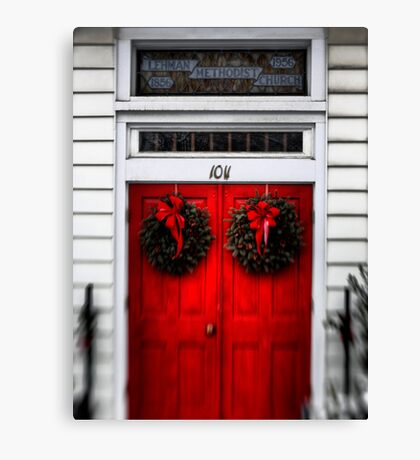 Church Entryway Canvas Print
