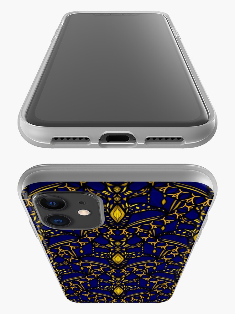 Alternate view of Sapphire Scales iPhone Case & Cover