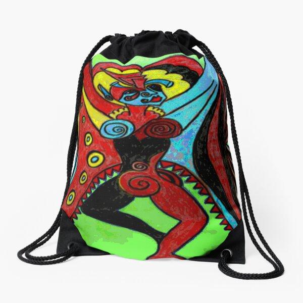 Butterfly Woman Drawstring Bag