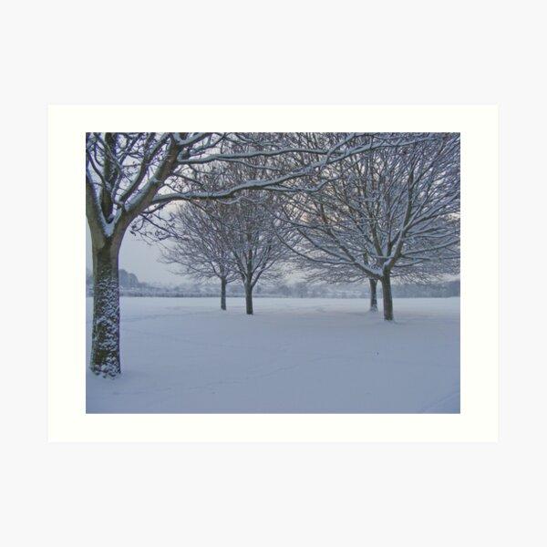 Exeter @ Winter Art Print
