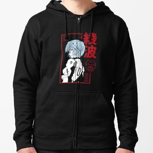 Black Evangelion Rei Ayanami Zipped Hoodie