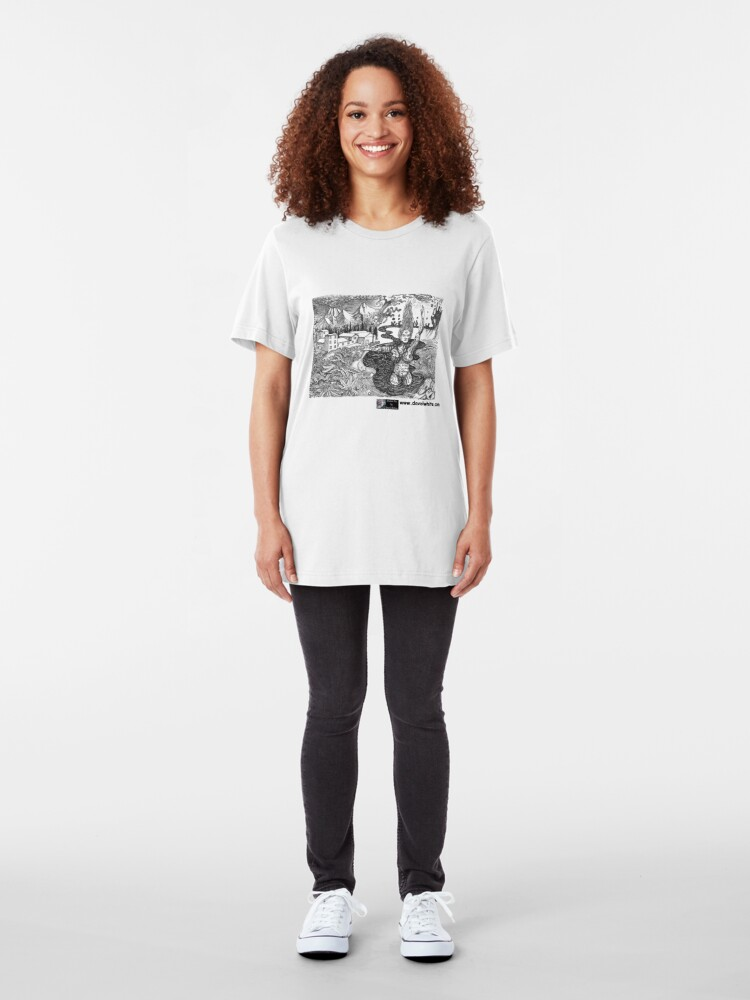 Alternate view of Our Lady of the Pillar Slim Fit T-Shirt
