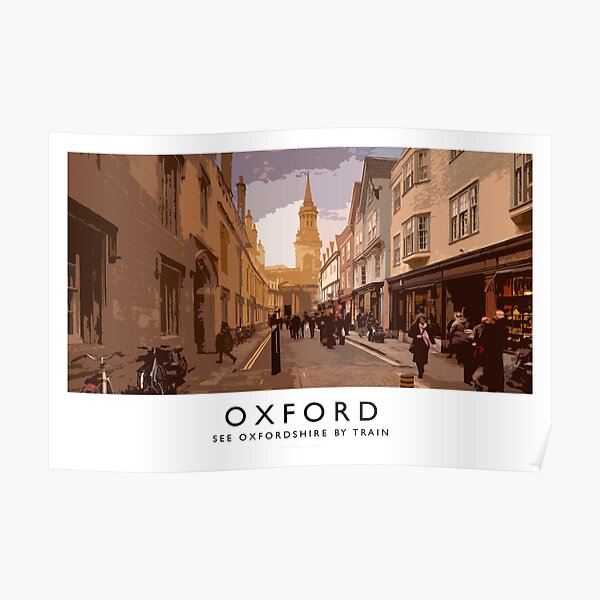 Oxford (Railway Poster) Poster