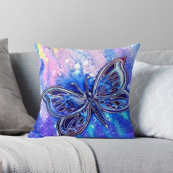 Cosmic Butterfly Throw Pillow