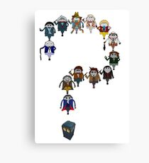 Who's Who are You? Canvas Print